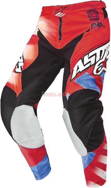 ALPINESTARS Hose: Racer, rot/blau
