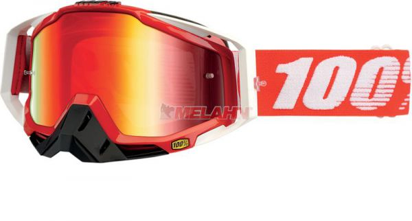 100% Racecraft Fire Red Goggle Motocross MTB MX Enduro Cross Brille, verpsiegelt, rot