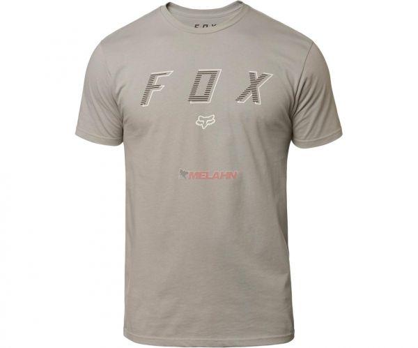 FOX Premium T-Shirt: Barred, grau
