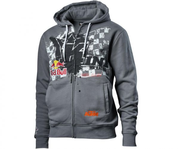 KINI-Red Bull Zip-Hoodie: Overspray, grau