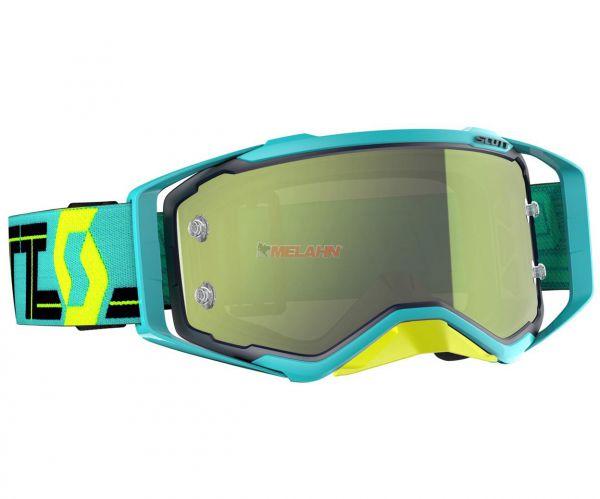 SCOTT Brille: Prospect, blau/teal - gelb chrome verspiegelt