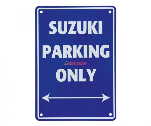 MT Metallschild: Suzuki Parking Only