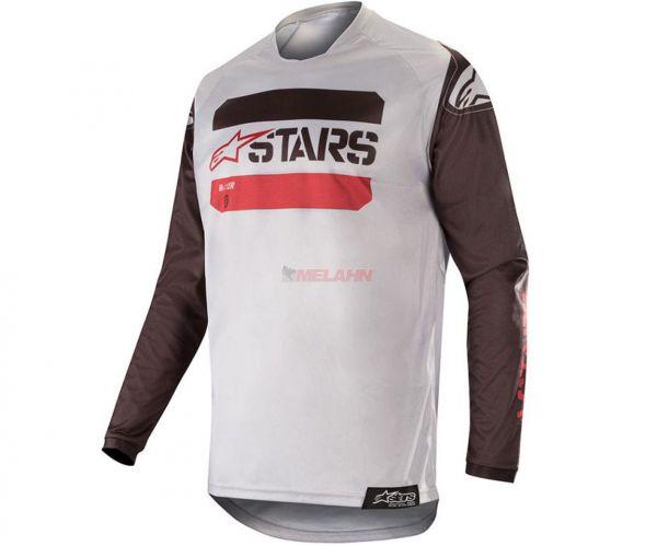 ALPINESTARS Jersey: Racer Tactical, grau/schwarz/rot