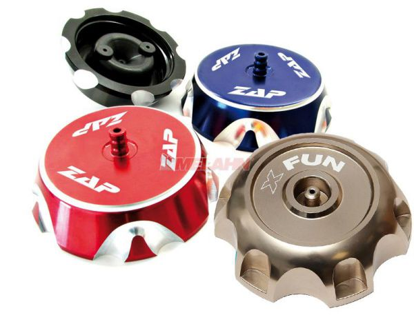 X-FUN Aluminium-Tankdeckel CRF 02-05/RMZ 450 07-, titan