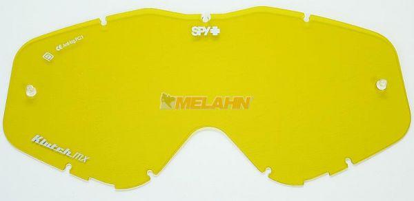 SPY Ersatzglas mit Pins Klutch/Whip/Targa3, gelb