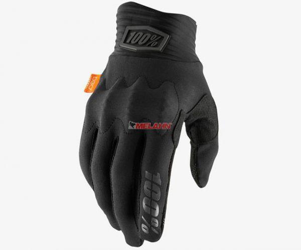 100% Handschuh: Cognito D30, schwarz/grau