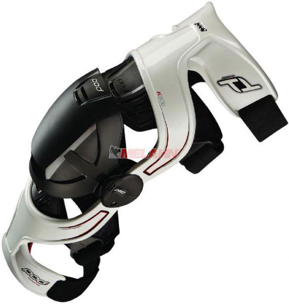POD MX Knee-Brace (Paar): K300, weiß