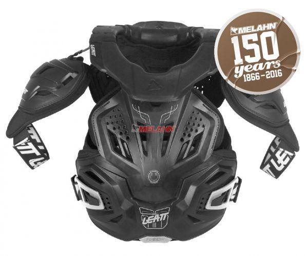LEATT Brustpanzer: Fusion 3.0, schwarz