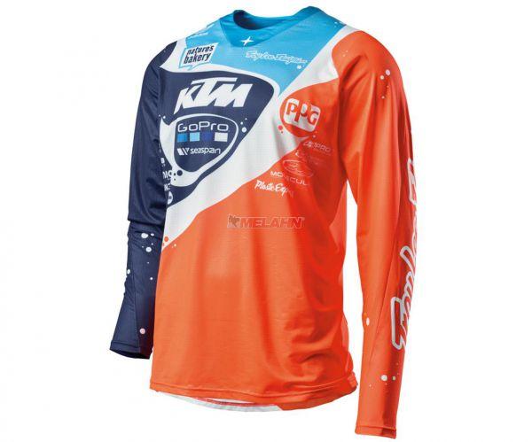 KTM TROY LEE DESIGNS Jersey: SE Pro, orange/blau/weiß