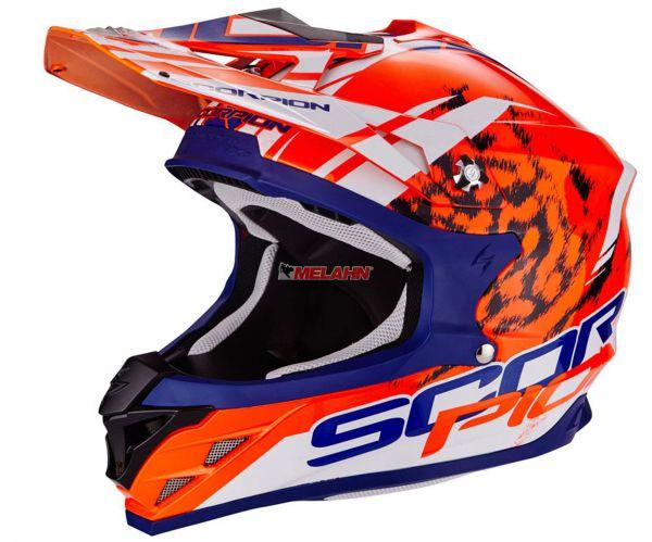 SCORPION Helm: VX-15 Evo Air Kistune, orange/blau/weiß