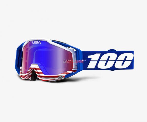 100% Brille: Racecraft Anthem blau, blau verspiegelt