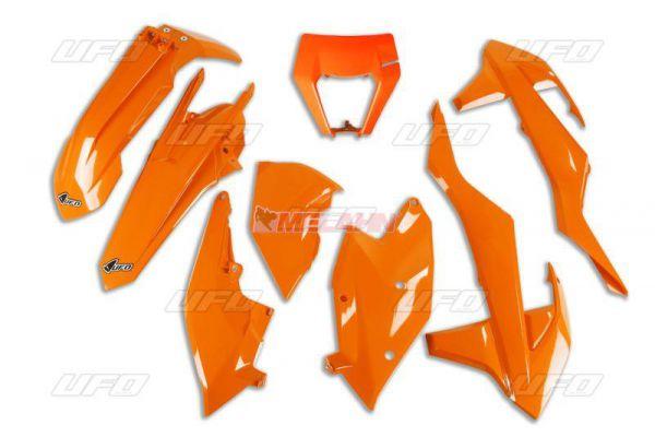 UFO Plastik-Kit KTM mit Lampenmaske EXC 2017-2019, orange