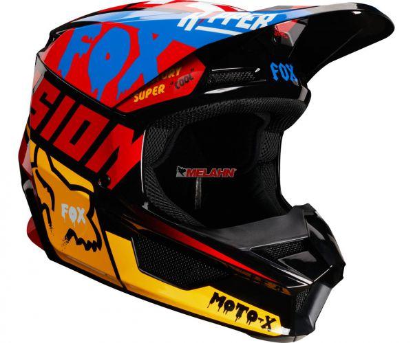 FOX YOUTH Helm: V1 Czar, schwarz/gelb