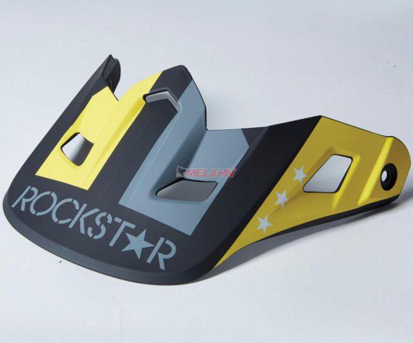 FOX Helmschirm: V2 Visor (2014) Rockstar, schwarz/weiß