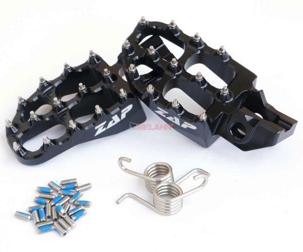 ZAP E-Peg Aluminium-Fußrasten (Paar), KTM SX 16- / EXC 17-, schwarz