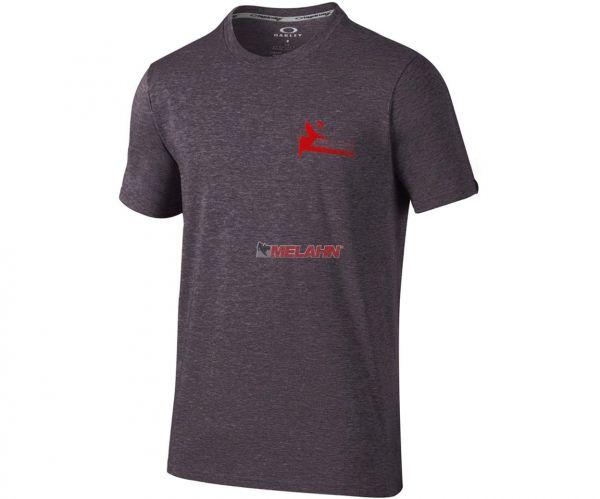 OAKLEY T-Shirt: Tri-Double Grip, anthrazit/rot