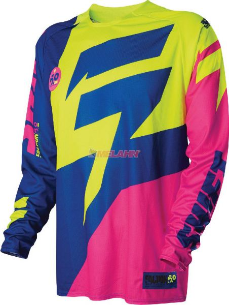 SHIFT Hemd: Faction LE Chad Reed A 1, gelb/blau/pink, Gr.L