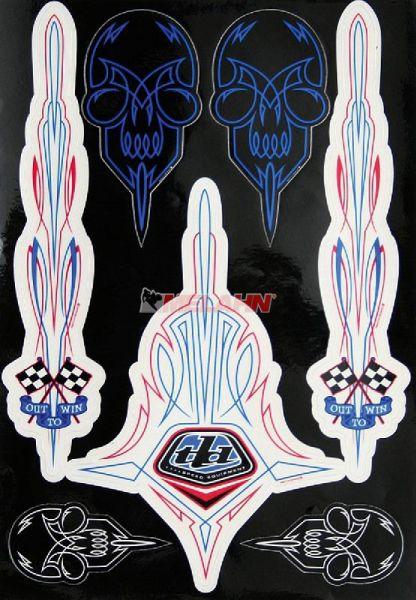 TROY LEE DESIGNS Aufkleber-Kit: Out-to-win, 7-Teilig 23x33cm, blau