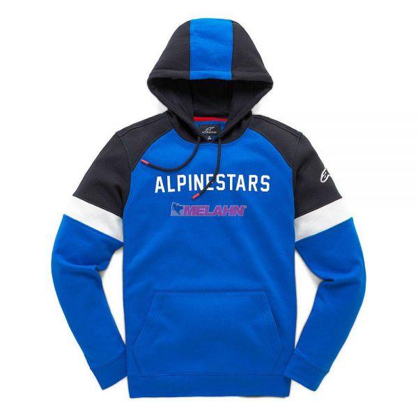 ALPINESTARS Hoody: Leader, blau/schwarz