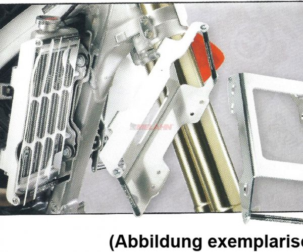 ZAP Aluminium-Kühlerschutz (Paar), WR 250 F 15-19 / 450 F 16-18