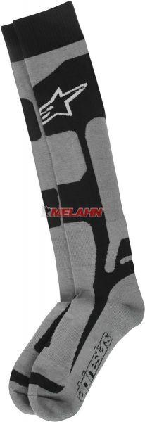 ALPINESTARS Socke (Paar): Tech CoolMax®, grau/schwarz