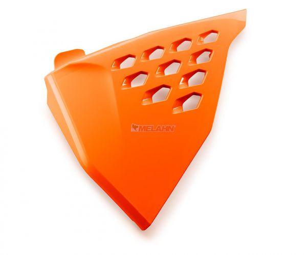 KTM Filterkastendeckel links mit Löchern SX 19- / EXC 20-, orange