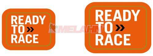 KTM Nabenaufkleber Ready to Race (8 Stück), orange