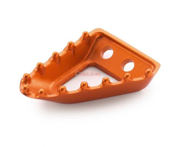 KTM Auftritt für Fußbremshebel breit, orange