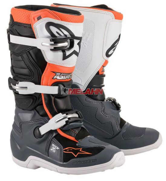 ALPINESTARS Kids Stiefel: Tech 7S, orange/grau