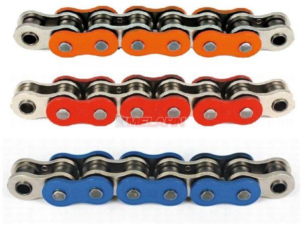 AFAM Kette 520 MX Professional farbig, 118 Gl., rot