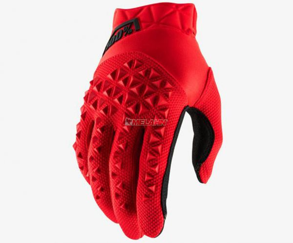 100% Handschuh: Airmatic , rot/schwarz