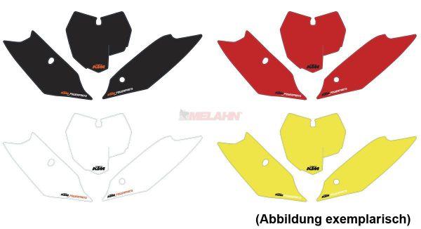 KTM Starttafelaufkleber-Set SX 11-12 / EXC 12-13 / SMR 12, schwarz