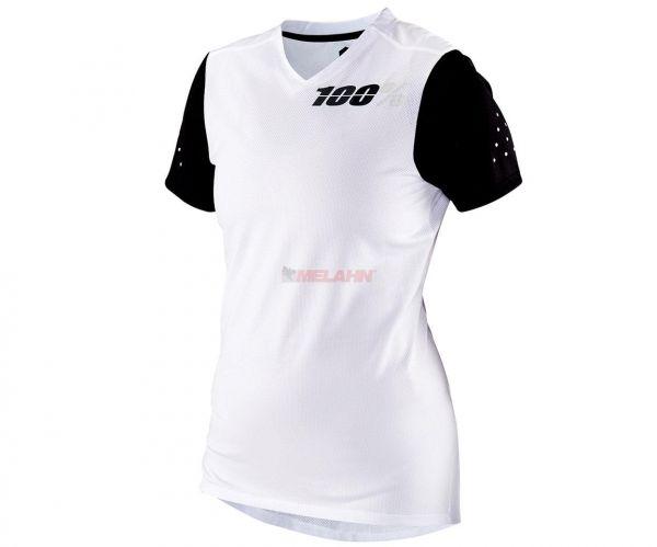 100% Girls MTB-Jersey: Ridecamp, weiß/schwarz