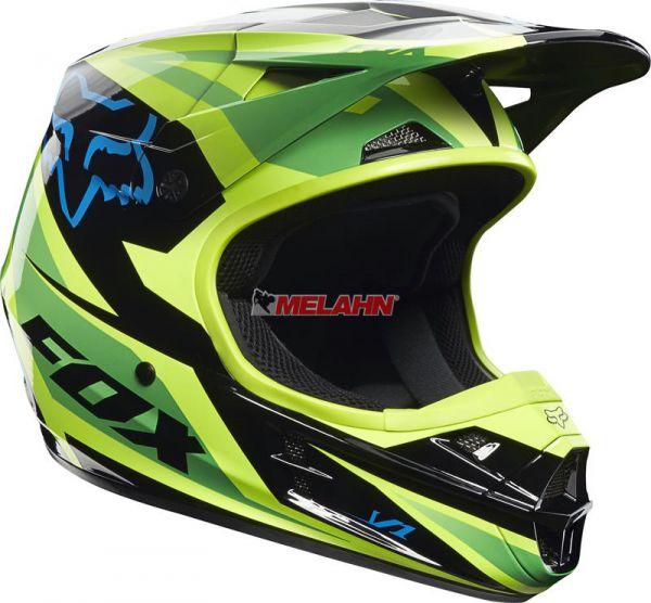 FOX Helm: V1 Race, grün
