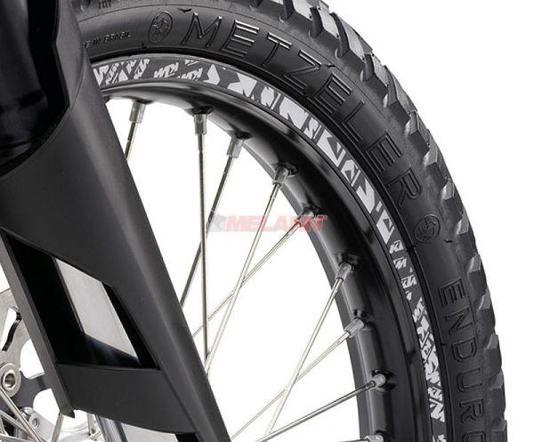 KTM Felgenringaufkleber-Kit: KTM 18/21 + 19/21 Zoll, sw/weiß