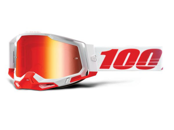 100% Brille: Racecraft 2 St-Kith, weiß/rot
