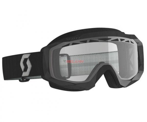 SCOTT Brille: Hustle X MX Enduro, schwarz/grau, klares Glas