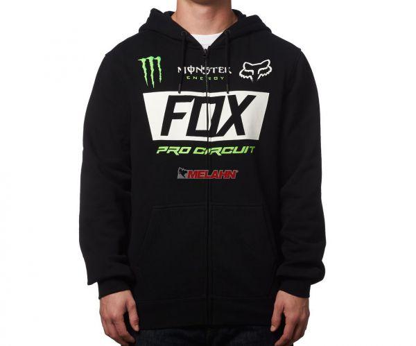 FOX Zip-Hoody: Monster Paddock Collection, schwarz