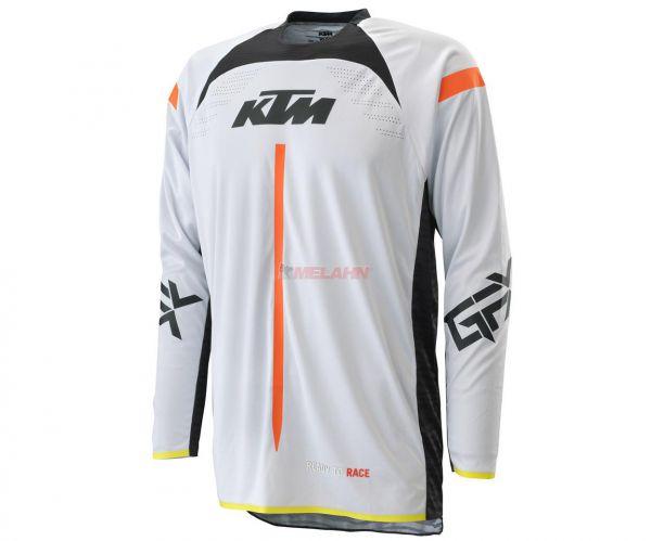 KTM Jersey: Gravity-FX, weiß/schwarz