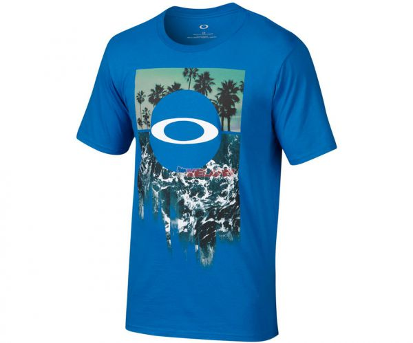 OAKLEY T-Shirt: I Surf, blau