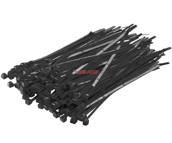 MT Kabelbinder (100 Stück) schwarz, kurz 140mm