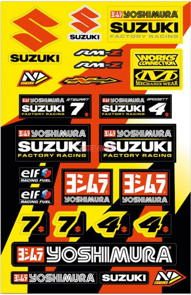 N-STYLE Aufkleber-Kit: Suzuki (24-tlg.)