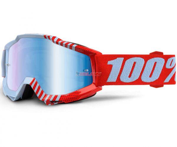 100% Brille: Accuri Cupcoy, hellblau/rot