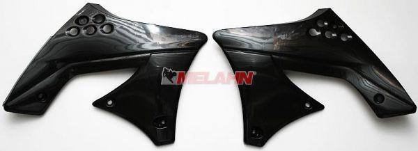 UFO Spoiler (Paar) Kühlerverkleidung KXF 250 09, 12, schwarz
