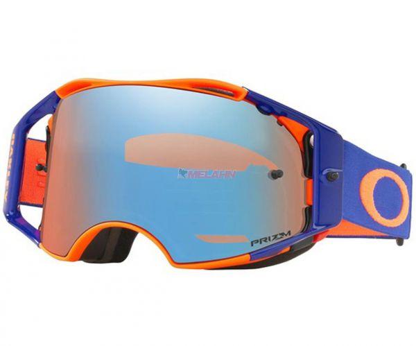 OAKLEY Brille: Airbrake Prizm MX Flo Orange Blue, orange/blau/torch-iridium