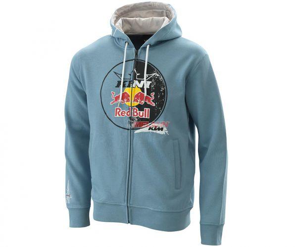 KINI-Red Bull Zip-Hoodie: Circle, hellblau