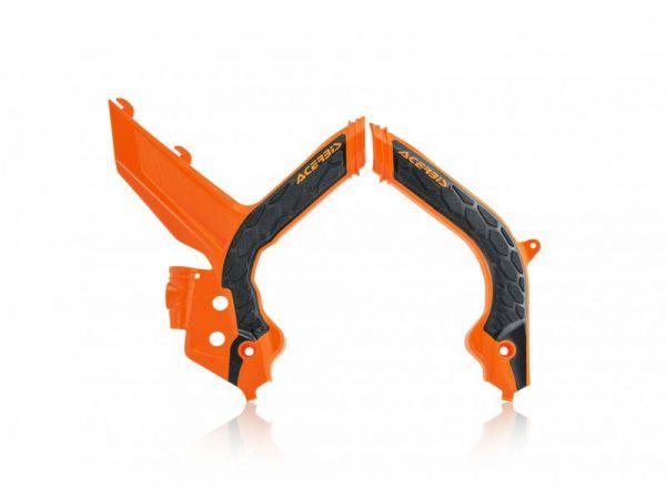 ACERBIS Rahmenschützer (Paar): X-Grip KTM EXC 2020-, orange/schwarz