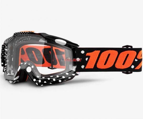 100% Brille: Accuri Gaspard, schwarz/orange
