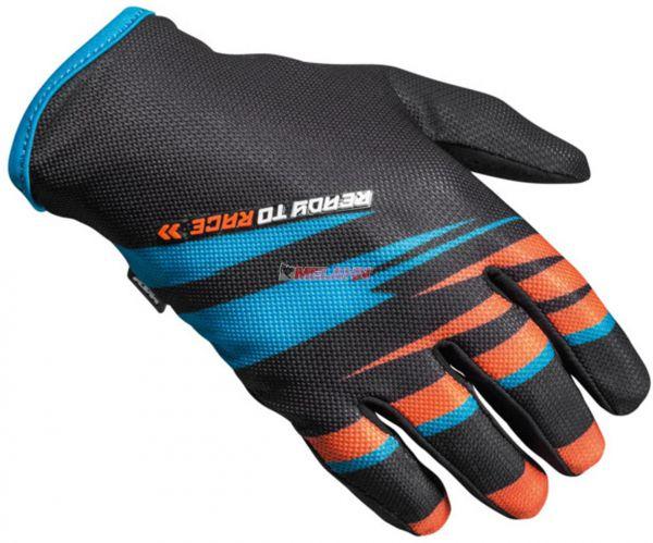 KTM Kids Handschuh: Pounce, schwarz/orange/blau