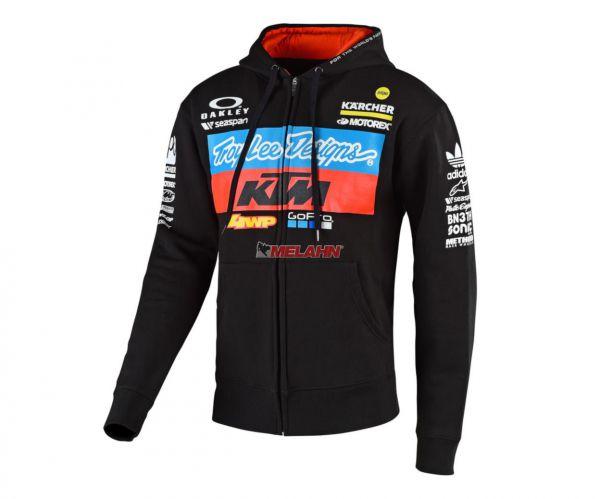 TROY LEE DESIGNS Zip-Hoody: KTM Team, schwarz